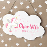 Personalised Baby Unicorn Cloud Wall Hanging - Personalised Gift From Personally Presented