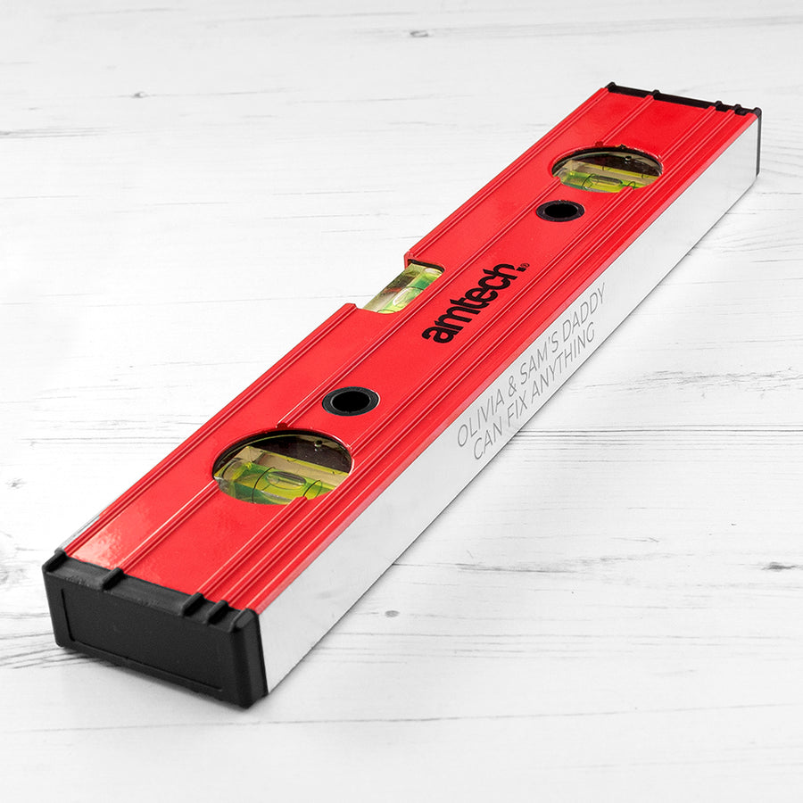 PERSONALISED SPIRIT LEVEL - Personalised Gift From Personally Presented