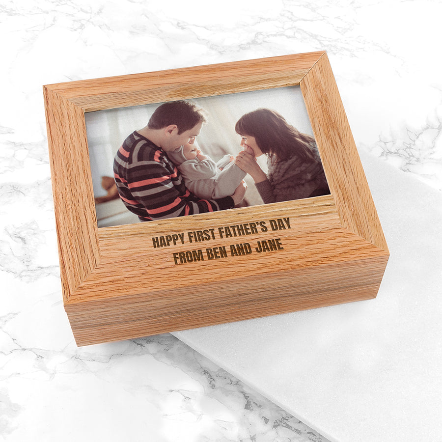 PERSONALISED KEEPSAKE MEMORY PHOTO BOX