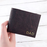 PERSONALISED DARK BROWN VEGAN LEATHER CORK WALLET - Personalised Gift From Personally Presented
