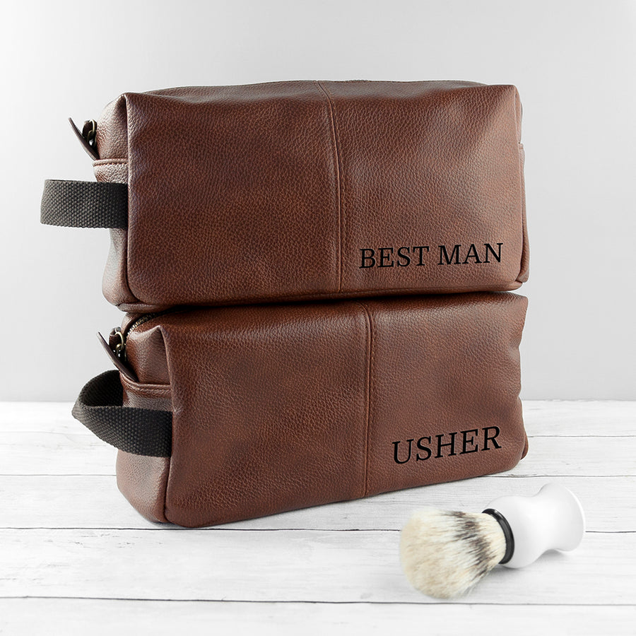 PERSONALISED VINTAGE STYLE WASH BAG - Personalised Gift From Personally Presented