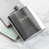 Personalised Best Man The Speech Hip Flask - Personalised Gift From Personally Presented