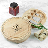 Personalised Connoisseur Mr and Mrs Cheese Board Set - Personally Presented