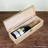 Personalised Mother's Day Wine Box With Floral Corners - Personally Presented
