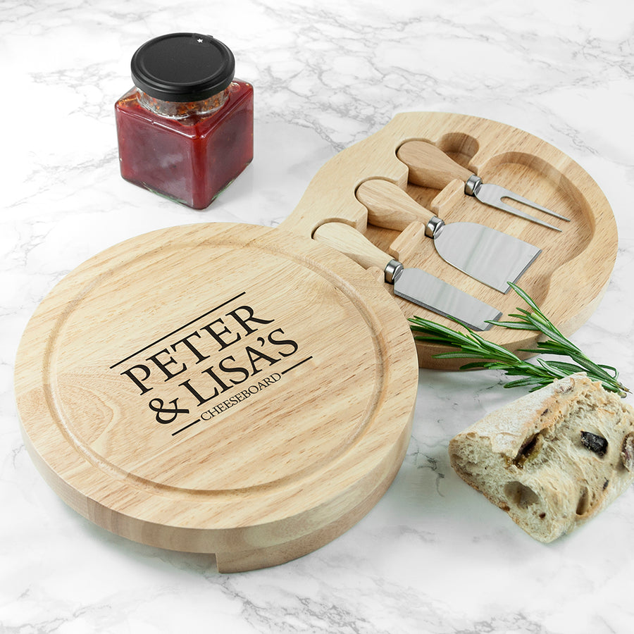 Personalised Couple Cheese Board - Personalised Gift From Personally Presented
