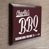 Personalised BBQ This Way! Garden Plaque - Personalised Gift From Personally Presented