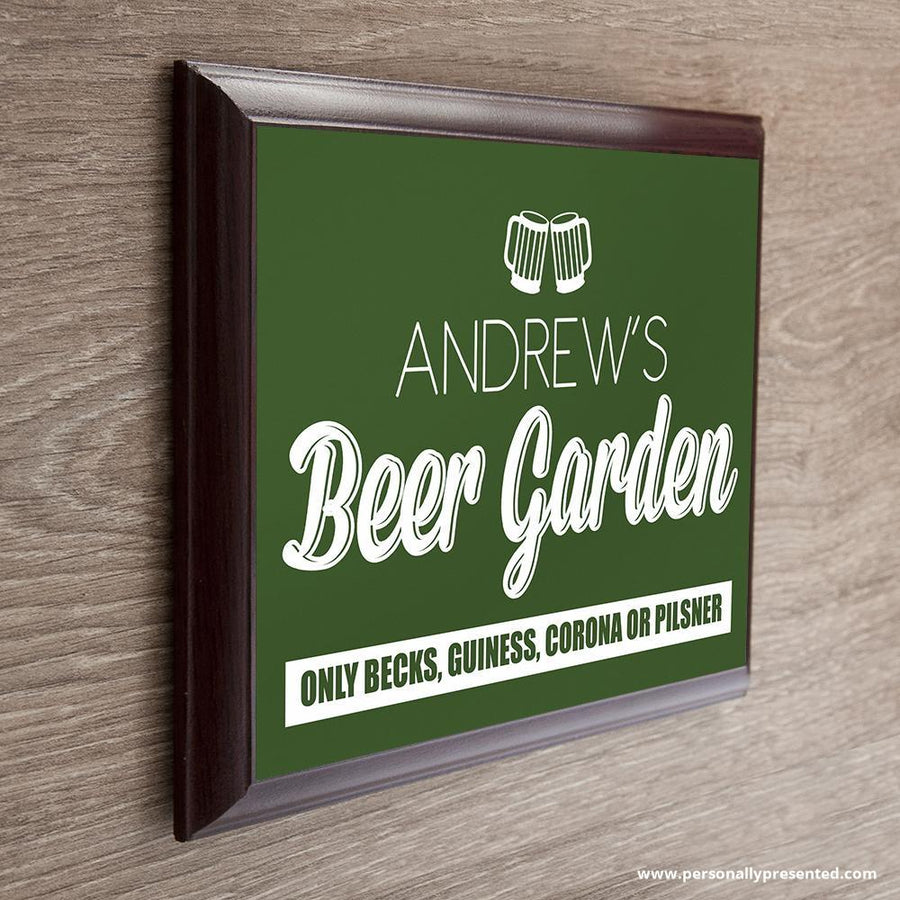 Personalised Welcome To My Beer Garden Plaque - Personalised Gift From Personally Presented