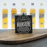 Personalised Moonshine Vintage Hip Flask - Personally Presented