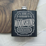 Personalised Moonshine Vintage Hip Flask - Personalised Gift From Personally Presented