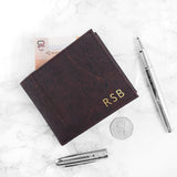 PERSONALISED DARK BROWN VEGAN LEATHER CORK WALLET
