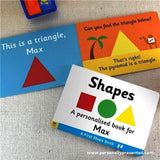 Personalised First Steps Shapes Board Book for Toddlers - Personalised Gift From Personally Presented