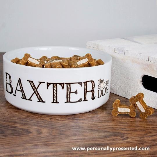 Personalised Greedy Dog Bowl - Personalised Gift From Personally Presented