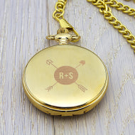 Personalised Groomsman Monogramed Pocket Watch - Personalised Gift From Personally Presented