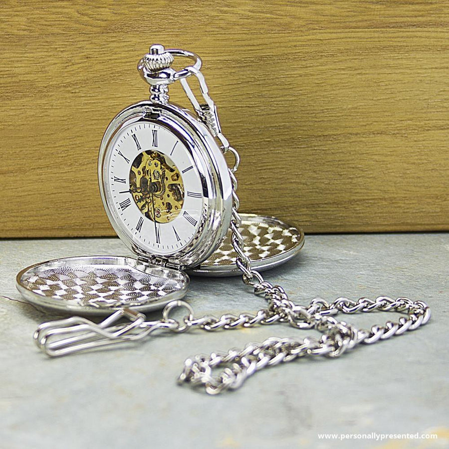 Personalised Heritage Dual-Side Pocket Watch - Personalised Gift From Personally Presented