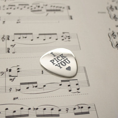Personalised I Pick You Plectrum - Personally Presented