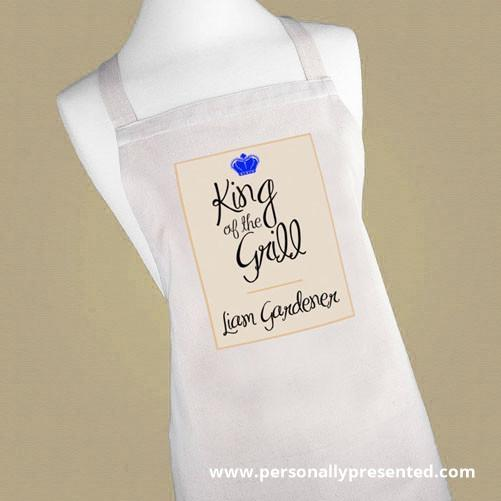 Personalised King of the Grill Apron - Personalised Gift From Personally Presented