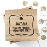 Personalised Little Acorns Large Keepsake Box - Personalised Gift From Personally Presented