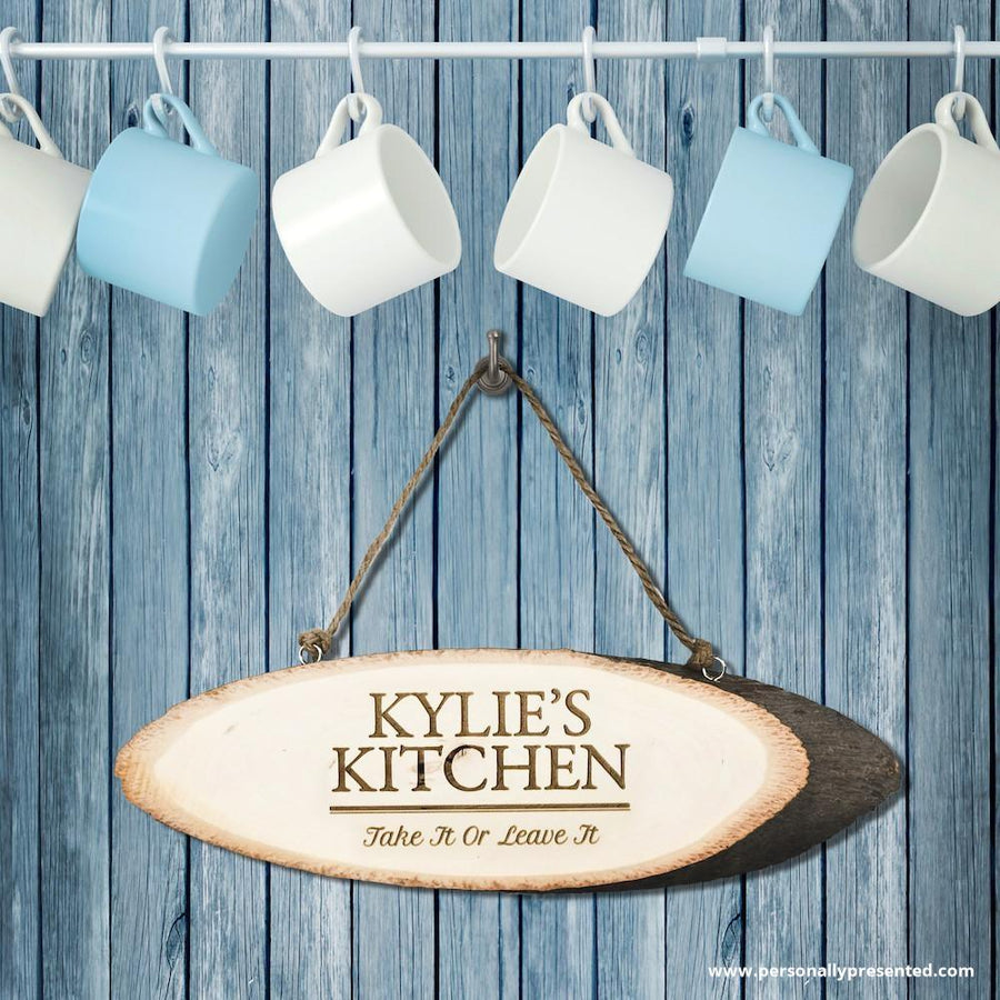 Personalised Rustic Kitchen Sign