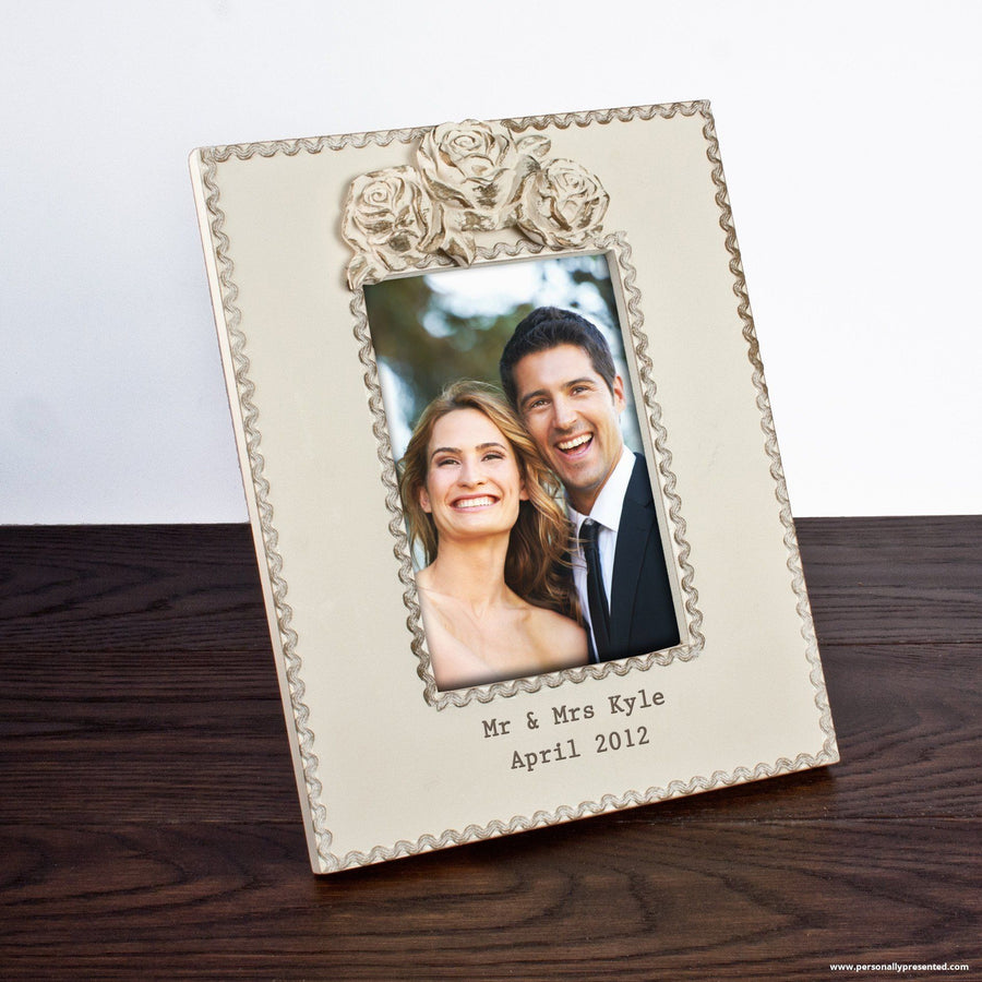Personalised Rustic Roses Large Picture Frame