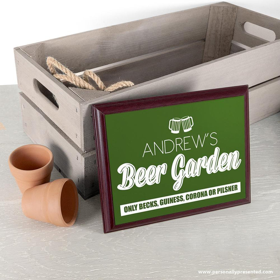 Personalised Welcome To My Beer Garden Plaque