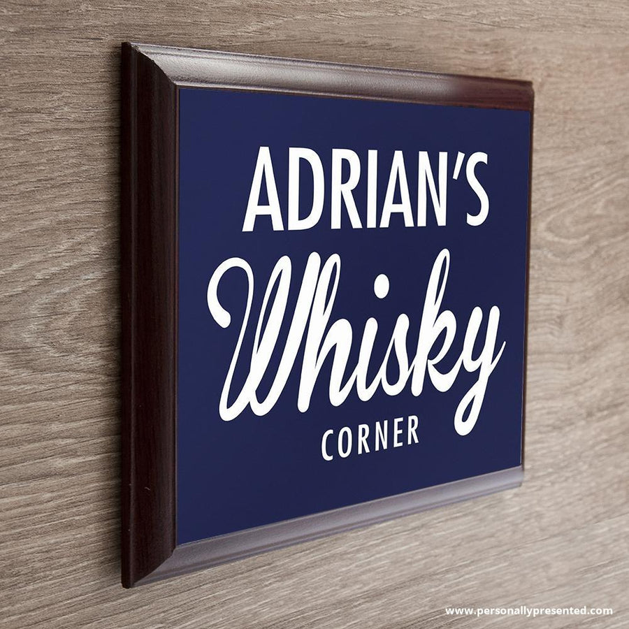 Personalised Whiskey Corner Plaque - Personally Presented