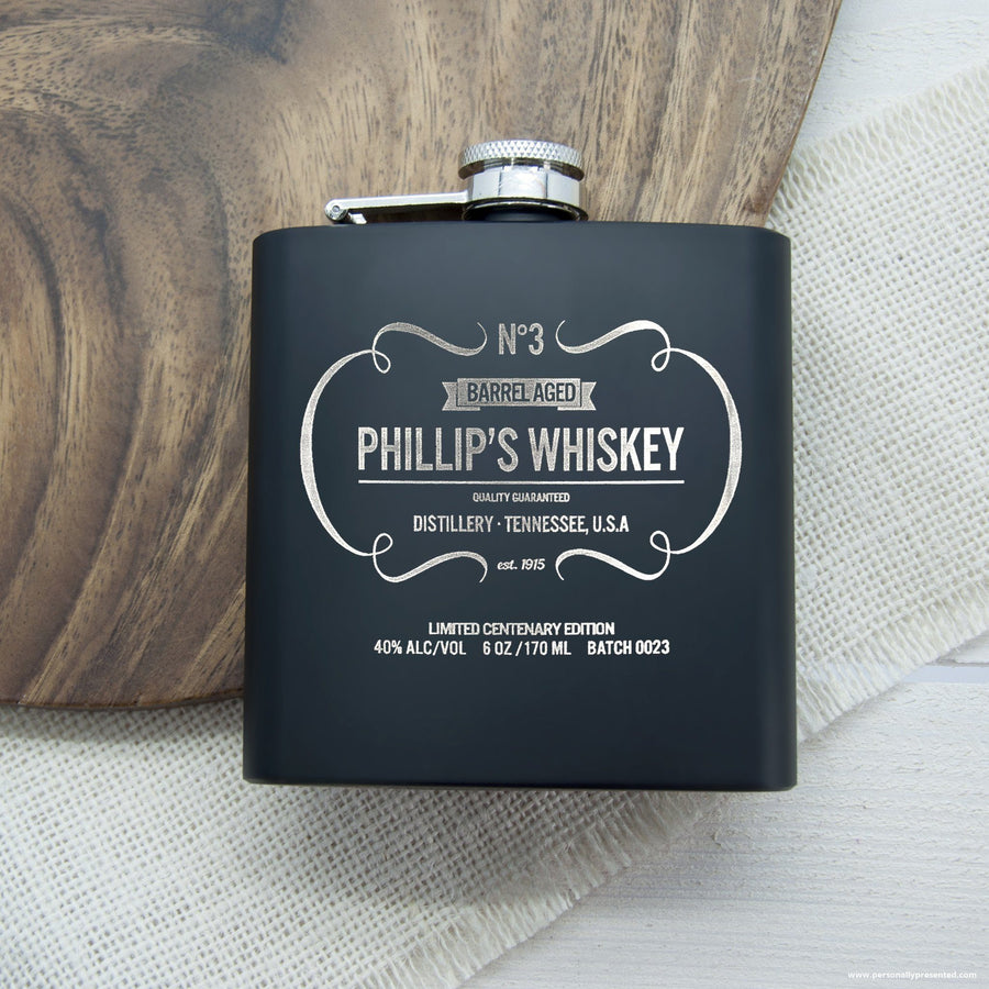 Personalised Whiskey Vintage Hip Flask - Personalised Gift From Personally Presented