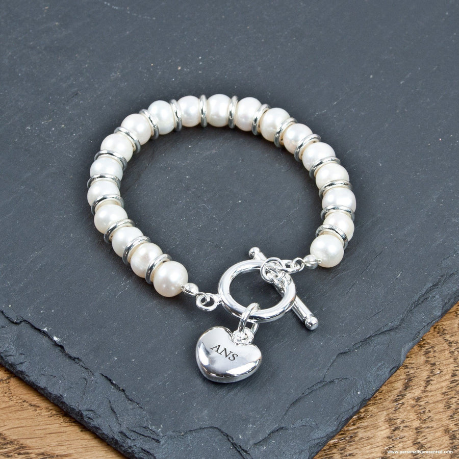 Personalised White Harmony Bracelet - Personalised Gift From Personally Presented