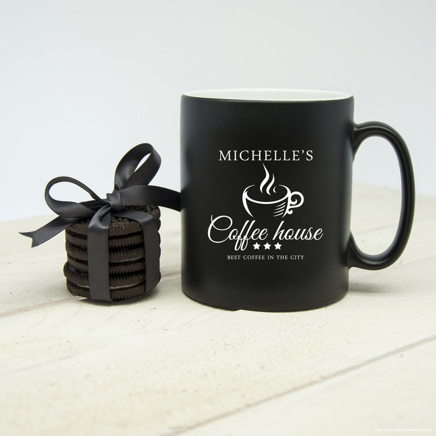 Personalised Silhouette Coffee House Mug - Personalised Gift From Personally Presented