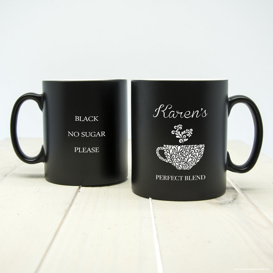 Personalised Silhouette Perfect Blend Mug - Personally Presented
