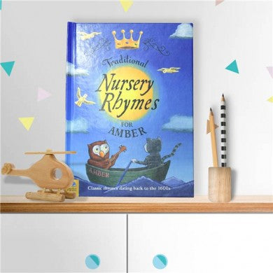 Personalised Traditional Nursery Rhymes Hardback Book - Personalised Gift From Personally Presented