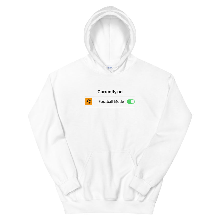 "Personalised ""Mode On"" Football Hoodie"