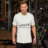Personalised Weight Lifting Evolution Short-Sleeve T-Shirt (Light Style)
