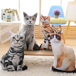 Realistic Cat Throw Pillows