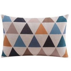 Nordic Triangles Throw Pillow
