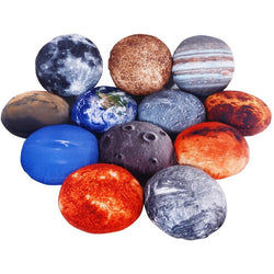 Realistic Planets Throw Pillows