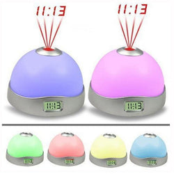 LED Projection Alarm Clock