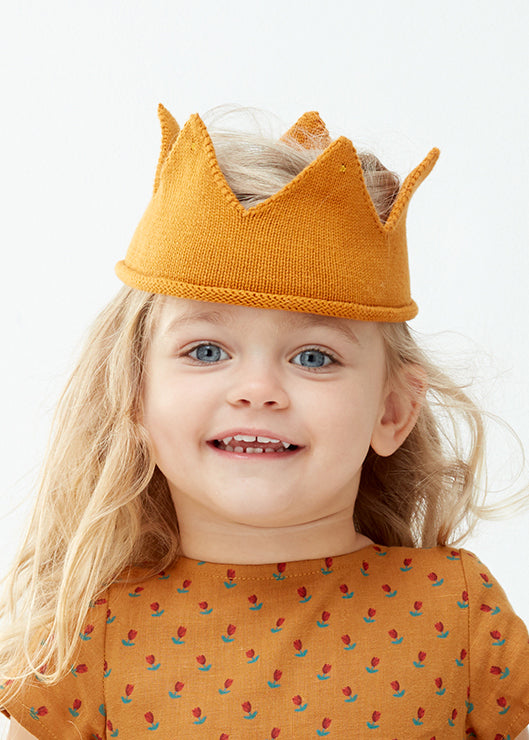KNIT COTTON CROWN - OCHRE
