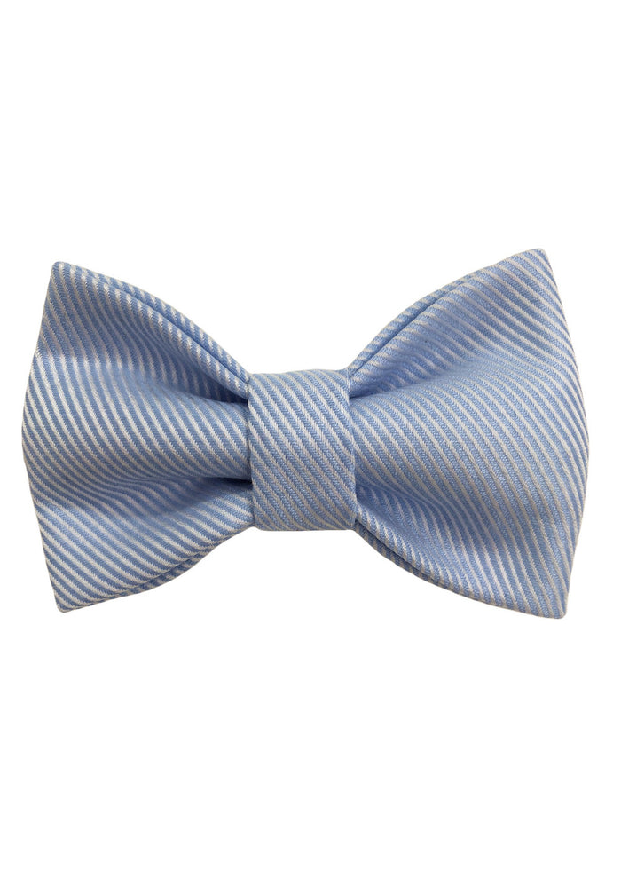 ROYAL CHILDREN BOW TIE - LIGHT BLUE STRIPE
