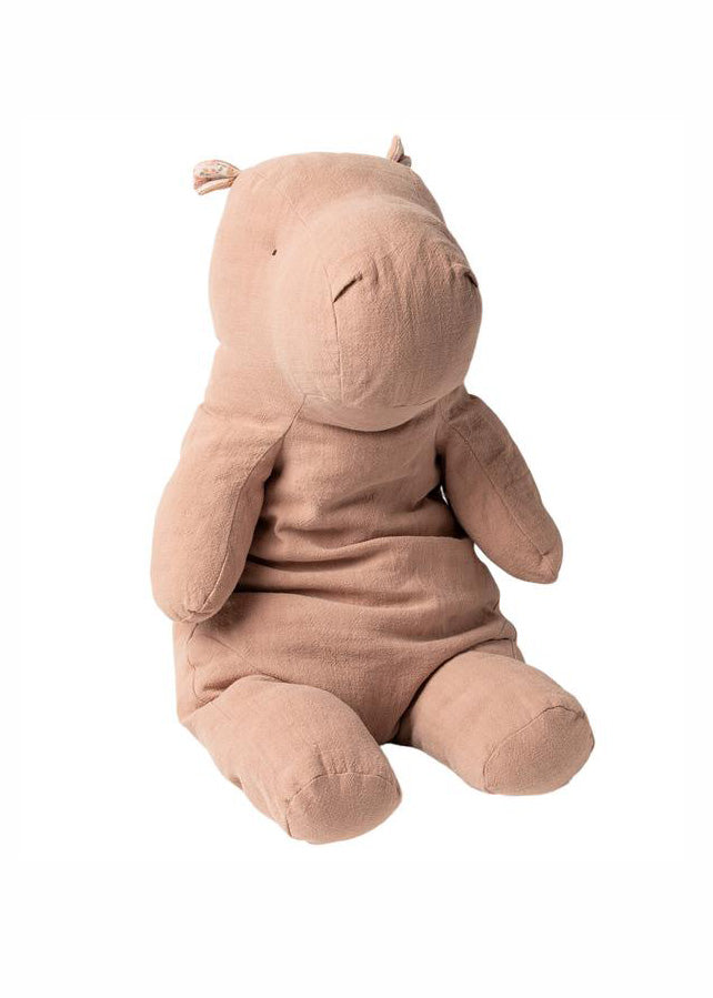 SAFARI FRIENDS - HIPPO - LARGE - DUSTY ROSE