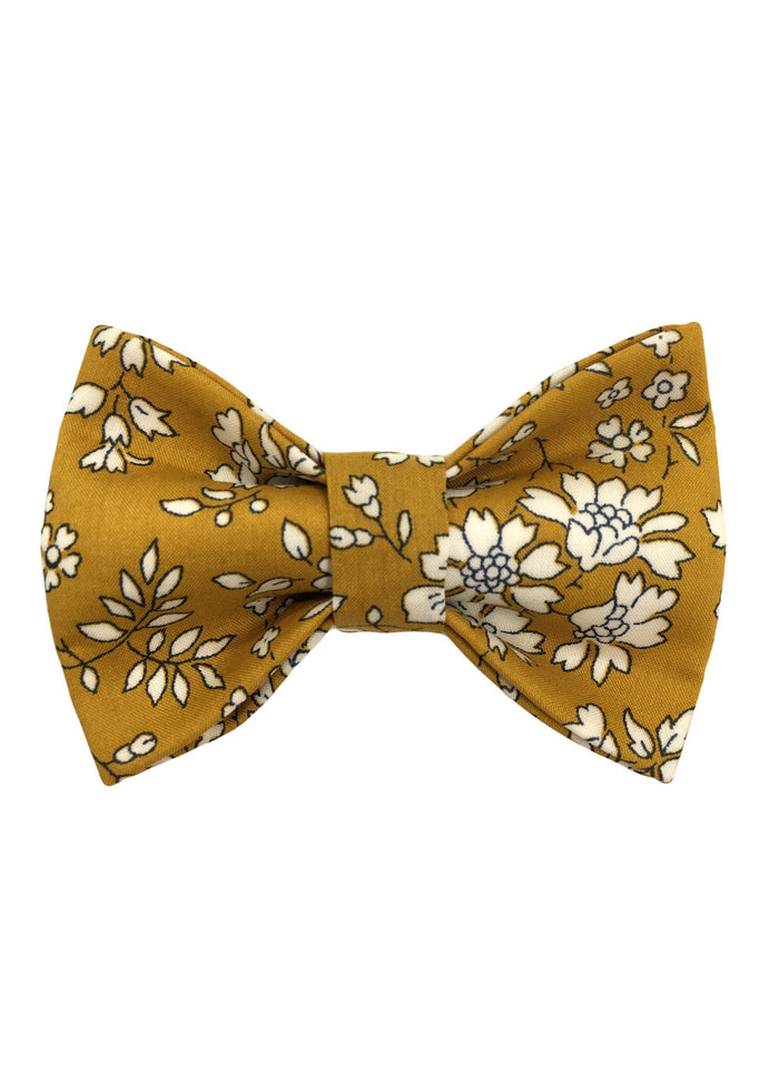 ROYAL CHILDREN BOW TIE - MUSTARD FLORAL