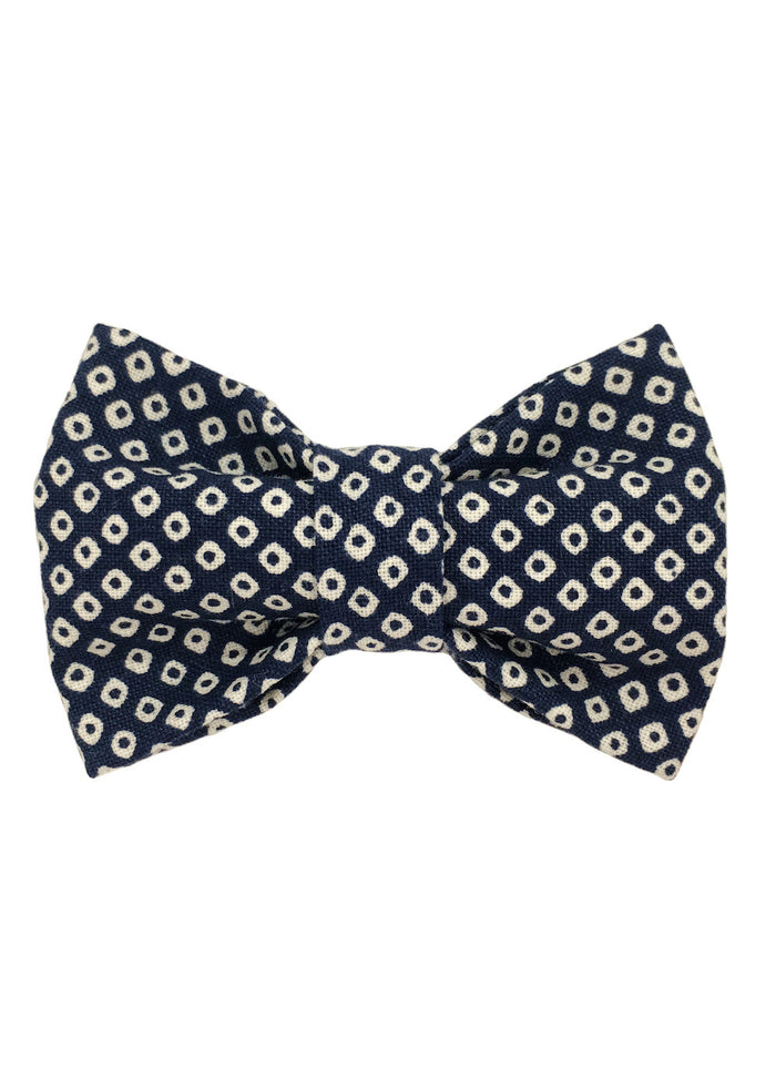 ROYAL CHILDREN BOW TIE - NAVY DOT