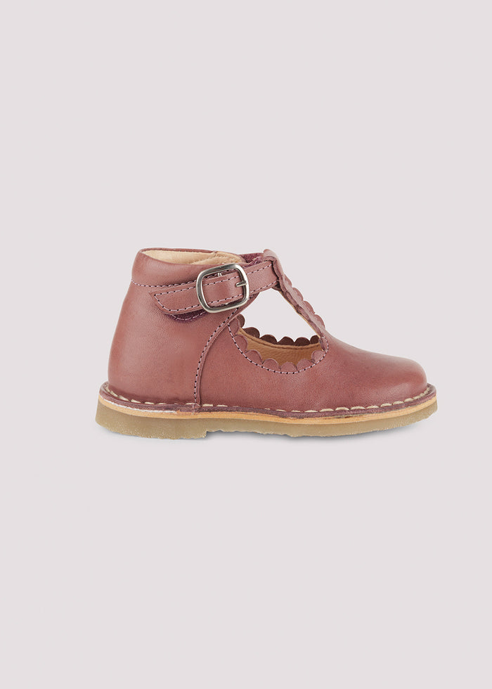 T-BAR SCALLOP SHOE