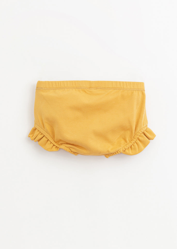 FRILLED DIAPER COVER - YELLOW