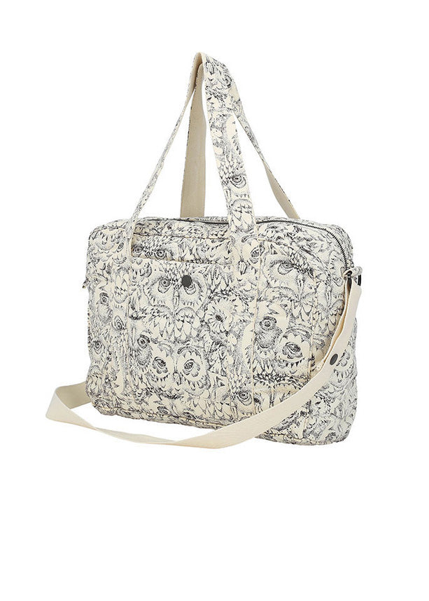 OWL NURSERY BAG - CREAM