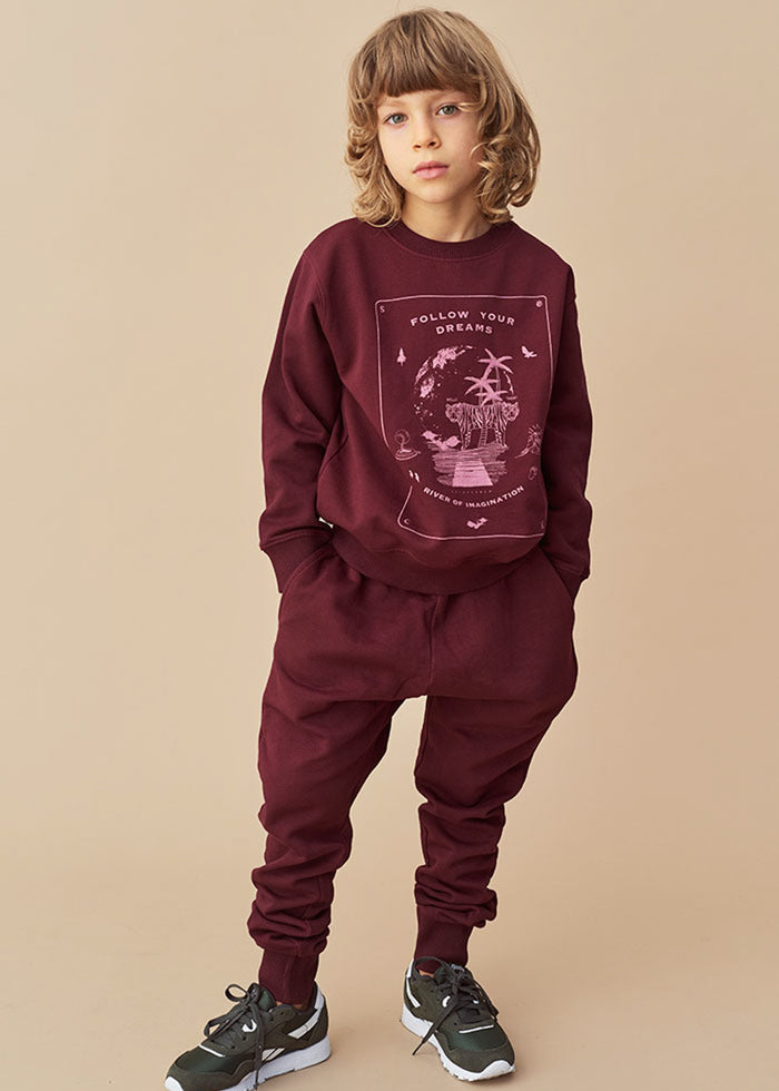 JULES SWEATPANTS - MAROON