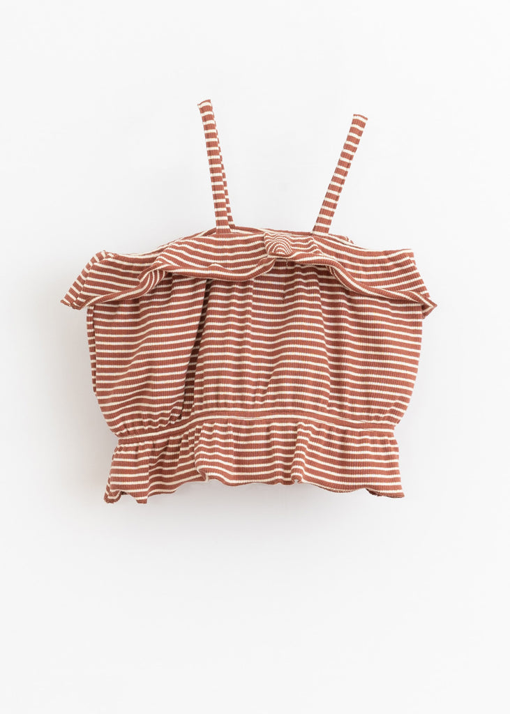 RIBBED STRIPE BUBBLE TOP