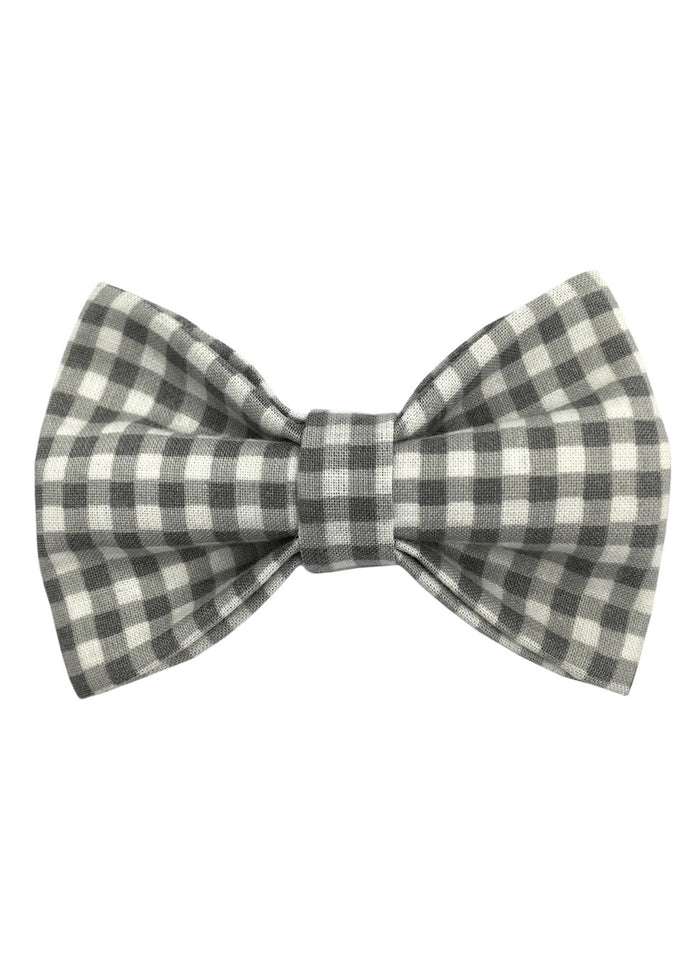 ROYAL CHILDREN BOW TIE - GREY GINGHAM