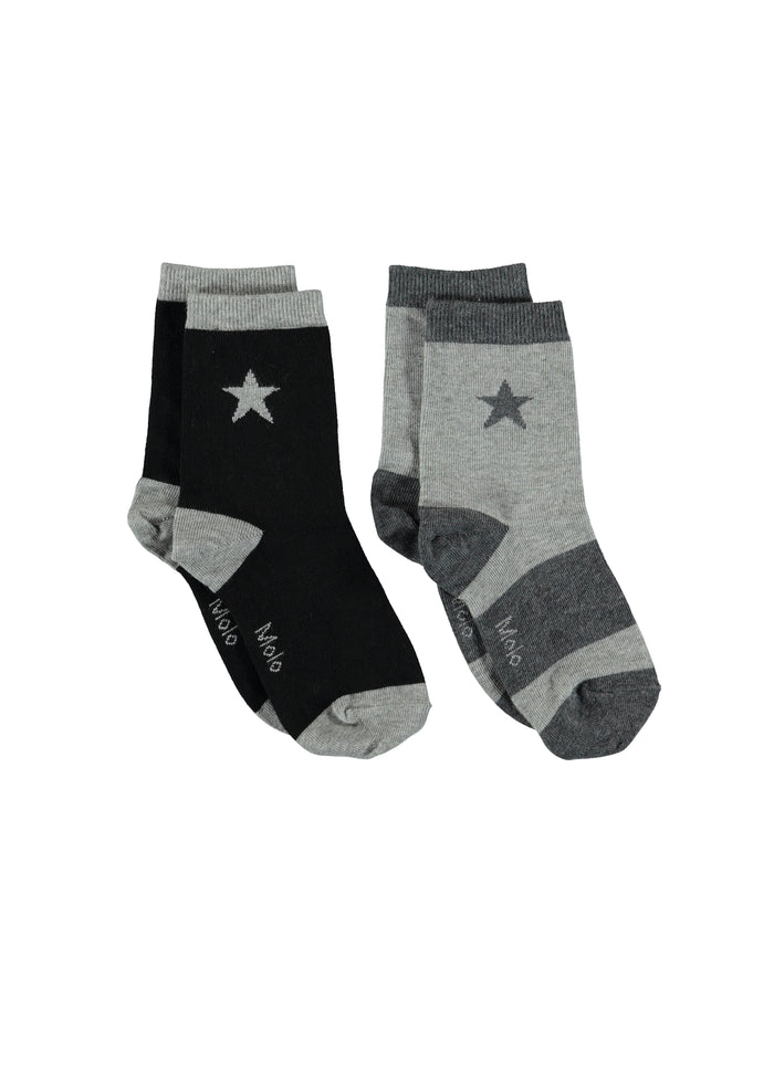 NITIS SOCKS - 2 PACKS - GREY MELANGE