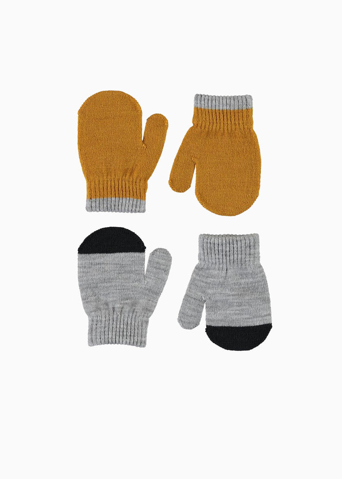 KETTY MITTENS - 2 PACK - MUSTARD/GREY