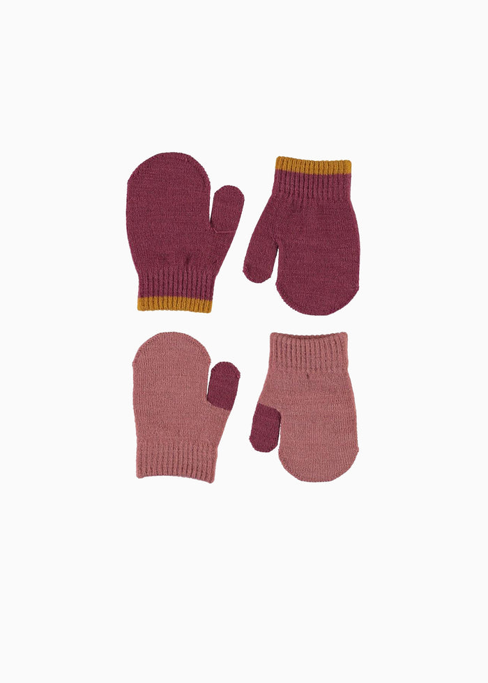 KENNY MITTENS - 2 PACK - ROSE/MAUVE